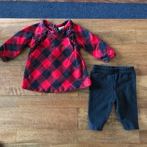 Newborn Red and Black Plaid Matching Set
